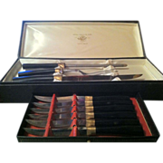 SALE Carving Set with Six Steak Knives in Original box