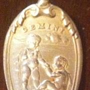 Gorham Sterling Silver Gemini May Baby Spoon Monogrammed