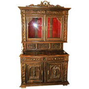 REDUCED Exceptionally Well Carved European Buffet Deux Corps