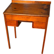 Early Pine Schoolmasters Desk with Writing Slate