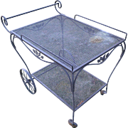 Salterini Wrought Iron Tea/Garden Serving Cart