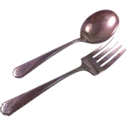 Virginia Pattern Baby Fork & Spoon by Weidlich Sterling Spoon Co.