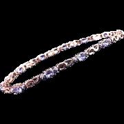"""10K Tanzanite Link 7"""" Bracelet"""