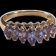 10K Yellow Gold Tanzanite Ring