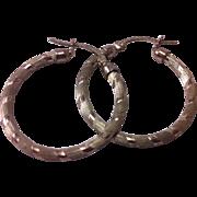 REDUCED Sterling Silver Hoop Earrings