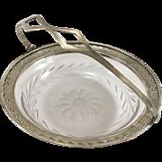 Webster Sterling and Etched Glass Basket