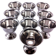 Set of 10 Fisher Sterling Silver Dessert Cups or Sherberts #562