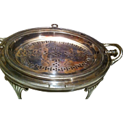 Daniel & Arter Revolving Silverplate Breakfast Warmer Server