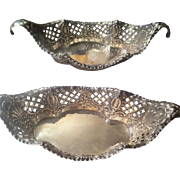 James Dixon & Sons Sheffield England Sterling Candy Dishes Dated 1911