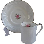 Crown Staffordshire England Demitasse Cup and Saucer for Danbury Mint