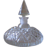SOLD Vintage Morlee Cut Crystal Czech Perfume Bottle