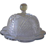 Heisey Glass Fandango # 1201 Round Butter Dish