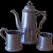 Vintage Craftsman Pewter Sheffield England Coffee set