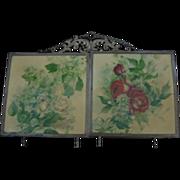 Antique Victorian Tri Fold Vanity or Hanging Mirror