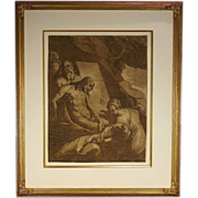 Italian Renaissance chiaroscuro woodcut of the Entombment ( Bartsch 44), by Andrea Andreani  .