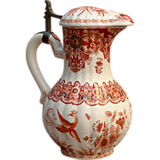 An early 18th century Delft faience polychrome coffee pot, monogram mark for Pieter Andriaensz