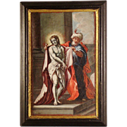 """An 18th century Austrian Baroque painting of """"Ecce Homo"""", associated with the studio of .."""