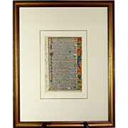 A Renaissance Book of Hours Leaf, produced at the  Hardouyn workshop, Paris, circa 1509