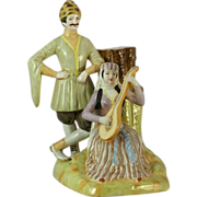 An Imperial Russian Gardner porcelain figural vase, Moscow (Verbiliki), circa 1880.