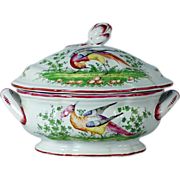 An 18th century French faience tureen, Sceaux, circa 1780.