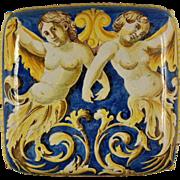 A 16th century Venetian polychrome majolica foot warmer, Domenico de Veneziano and workshop, .