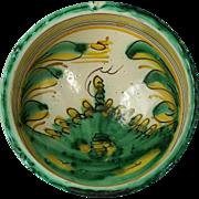An 18th century Spanish majolica polychrome bowl, Talavera or Puente del Arzobispo, circa 1770
