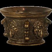 An unusual 16th century Italian cast bronze mortar, probably Venice, circa 1570
