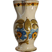 A large early 19th century Spanish majolica pitcher, Talavera or Puente del Arzobispo, Toledo,