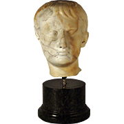 A mid-18th century Grand Tour marble bust of Augustus Caesar, probably Rome, circa 1750.