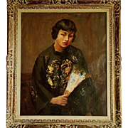 SOLD An Art Deco portrait of Anna May Wong, the first Chinese-American movie star ...