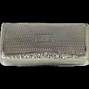 A William IV sterling silver gilt snuff box, Francis Clark, Birmingham, England, 1837