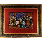 A large 16th century Limoges enamel plaque by Leonard Limousin II and atelier, circa 1595