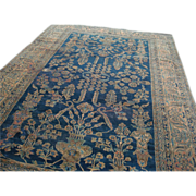Museum piece, Persian hand knotted Sarough Mohajeran area rug, 19th century, one of a kind