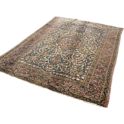SOLD Superb antique hand knotted Persian Isfahan rug by Ahmad, circa 1900