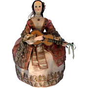 SALE Automaton French Musical CA 1860, Elegant Dancing Lady with Guitar by Theroude, Provenanc