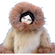 SALE Authentic Vintage Native Alaskan Eskimo Doll by Maggie Wiseman