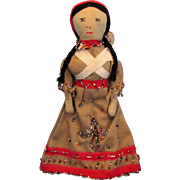 SALE 1930's Beaded Cherokee Native American Indian Doll - Museum Quality