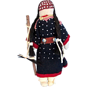 SALE CROW - Indian Beaded Leather Female Doll - Mary Lou Big Day
