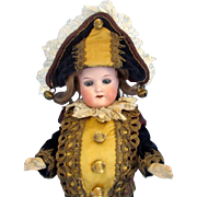 SALE Heubach Koppelsdorf 250 Bisque Head Antique Polichinelle Doll