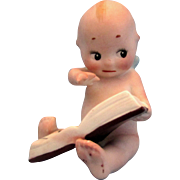 SALE Antique Rose O'Neill Bisque Kewpie Reader 3.75 Inches German