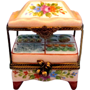 SALE Limoges Peint Main Trinket Box - French Fruit Stand