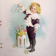 SALE MAUD HUMPHREY 1897 Lithograph Young Boy with Pin Wheel - Frederick A. Stokes & Brother