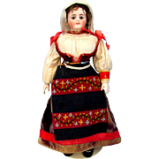 Simon and Halbig Poupee in Original Folklore Costume
