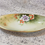 REDUCED NIPPON Celery Dish / Bowl - Hand Painted w/ Wild Roses - Morimura
