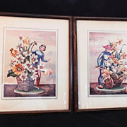 REDUCED Pair COCHET Oriental  Lithos - Large Framed Japanese Woman & Man