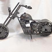 SOLD Motorcycle Motorbike Model Handmade METAL ART Craft  TOY CHOPPER