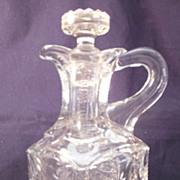 "REDUCED Model Flint Glass Co. ""Planet"" EAPG Decanter / Cruet with Stopper"