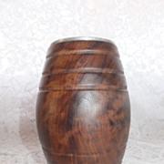 REDUCED Vintage Olive Wood Pen /Pencil Holder - Ethiopia