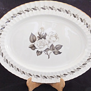 "REDUCED Royal Worcester ENGADINE Oval Serving Platter 17 1/4"" by 13"""