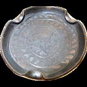 Authentic Dona Rosa barro negro (black clay) Candle Tray or Ash tray